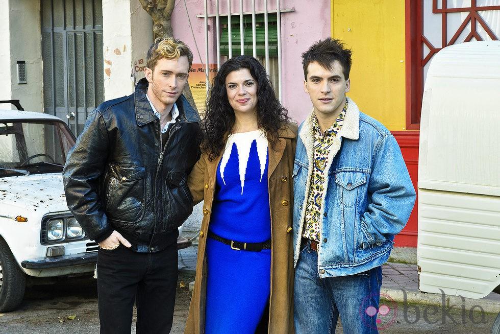 Pablo Rivero, Pilar Punzano y Ricardo Gómez en la presentación de la 16 temporada de 'Cuéntame cómo pasó'