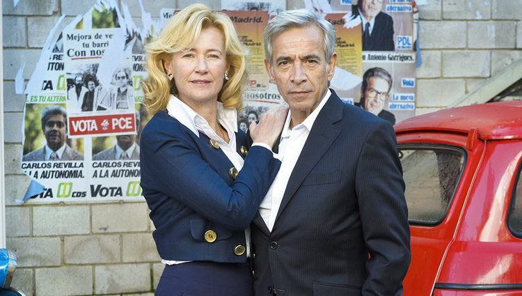 Ana Duato e Imanol Arias en la presentación de la 16 temporada de 'Cuéntame cómo pasó'