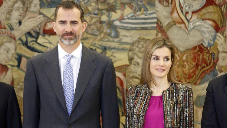Los Reyes Felipe y Letizia en una audiencia a la Comisión Nacional para la Racionalización de los Horarios Españoles