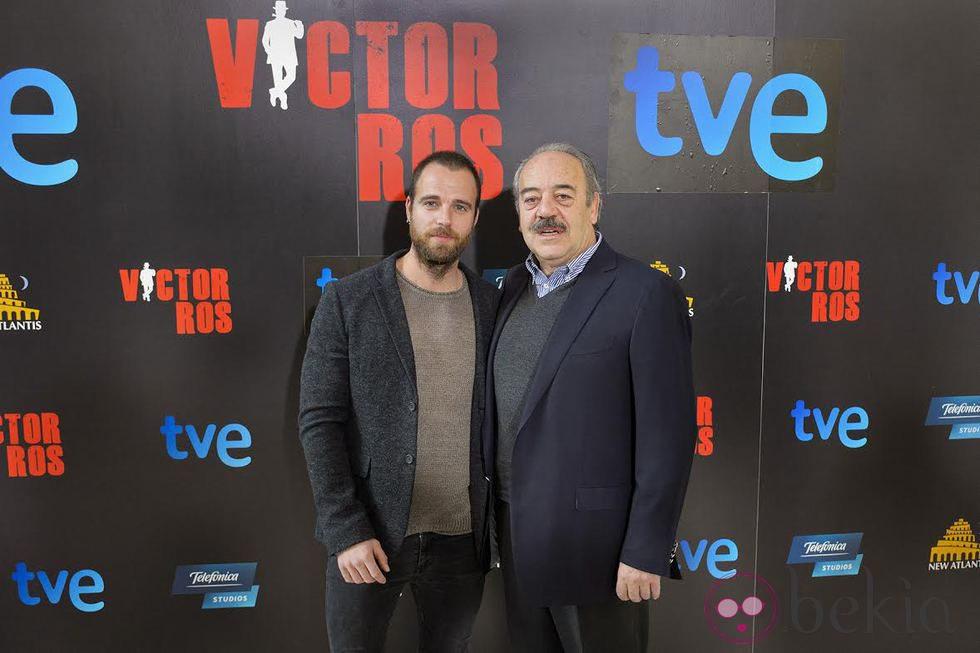 Carles Francino y Tito Valverde en la presentación de 'Víctor Ros'