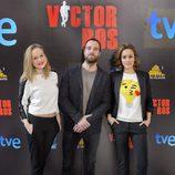 Esmeralda Moya, Carles Francino y Megan Montaner en la presentación de 'Víctor Ros'
