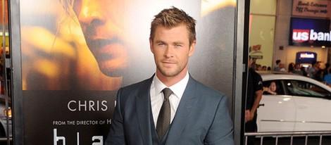 Chris Hemsworth en el estreno de 'Blackhat: Amenaza en la red' en Los Angeles
