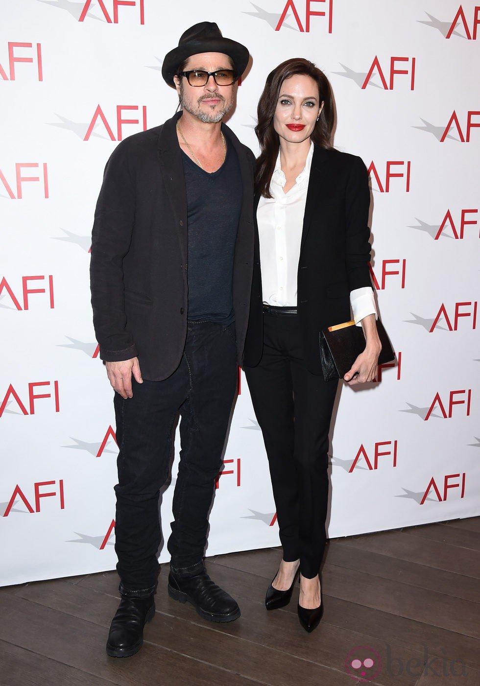 Brad Pitt y Angelina Jolie en los AFI Awards 2014