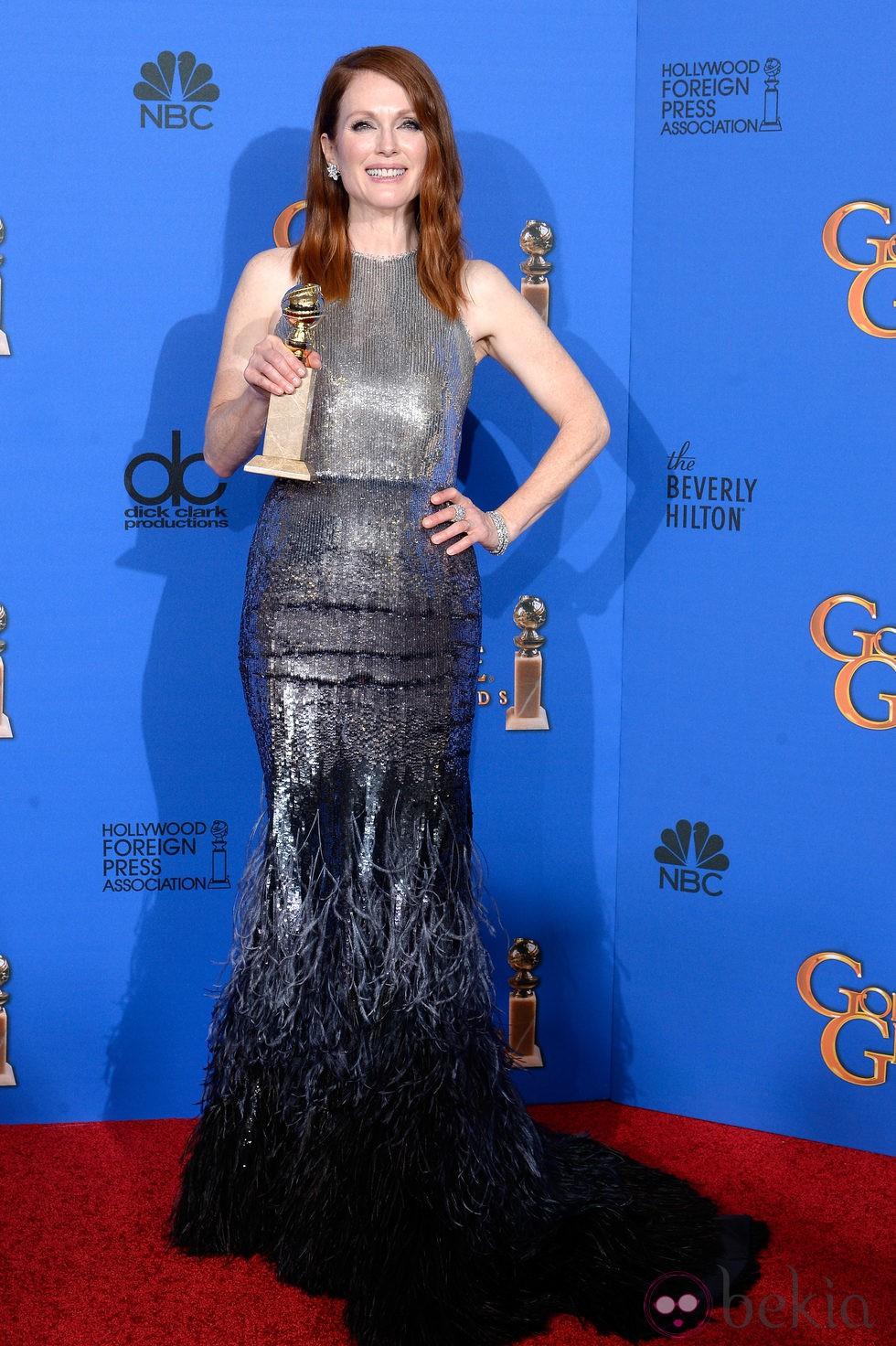 Julianne Moore, mejor actriz de drama en los Globos de Oro 2015