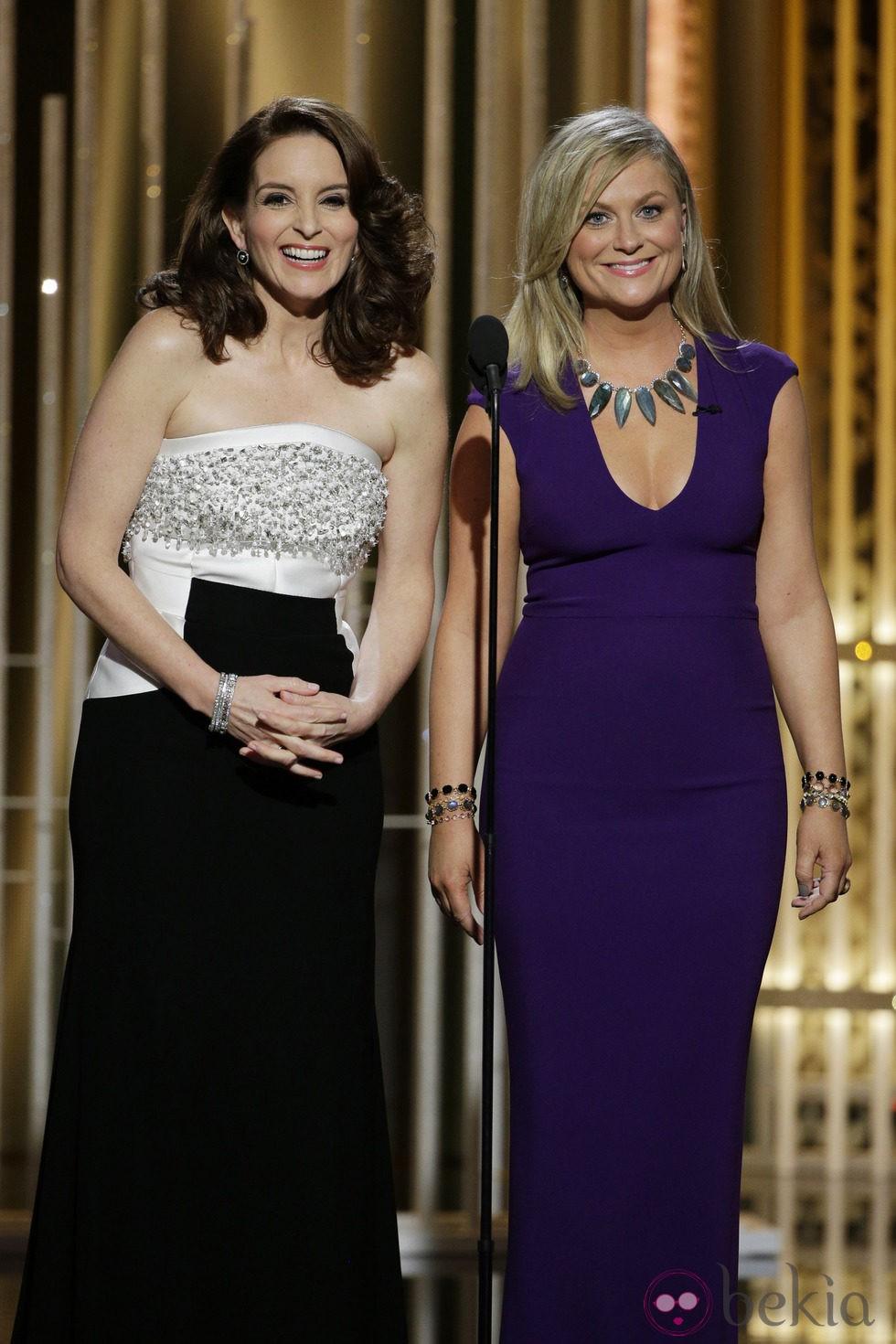 Tina Fey y Amy Poehler en la gala de los Globos de Oro 2015