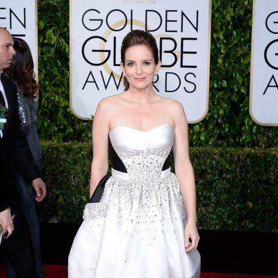 Tina Fey en la alfombra roja de los Globos de Oro 2015