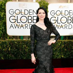 Laura Prepon en la alfombra roja de los Globos de Oro 2015