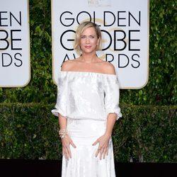 Kristen Wiig en la alfombra roja de los globos de Oro 2015