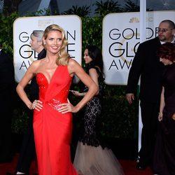 Heidi Klum en la alfombra roja de los Globos de Oro 2015