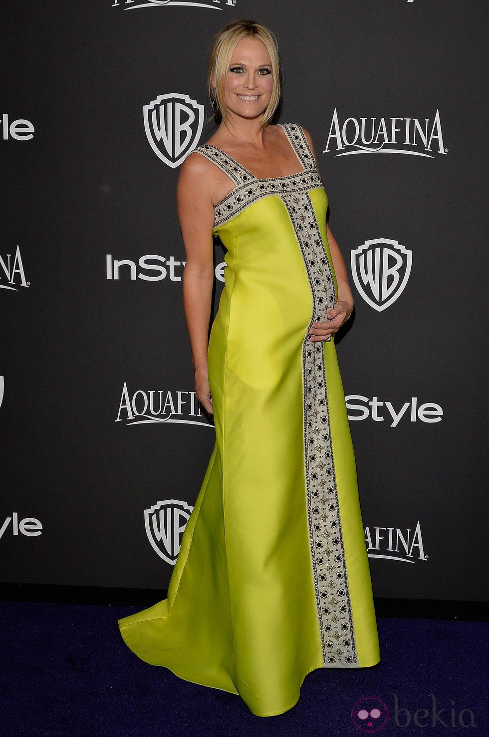 Molly Sims en la fiesta organizada por Warner tras los Globos de Oro 2015