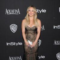 Hilary Duff en la fiesta organizada por Warner tras los Globos de Oro 2015
