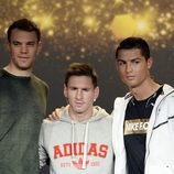Manuel Neuer, Leo Messi y Cristiano Ronaldo
