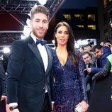 Sergio Ramos y Pilar Rubio en la entrega del Balón de Oro 2014