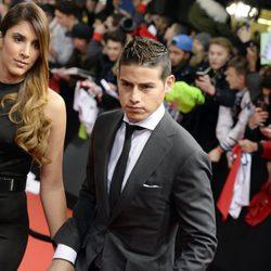 James Rodriguez y Daniela Ospina en la entrega del Balón de Oro 2014