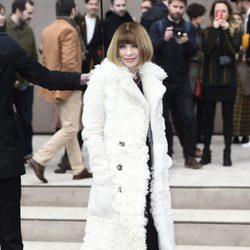 Anna Wintour en el desfile de Burberry otoño/invierno 2015 de la Semana de la Moda Masculina de Londres