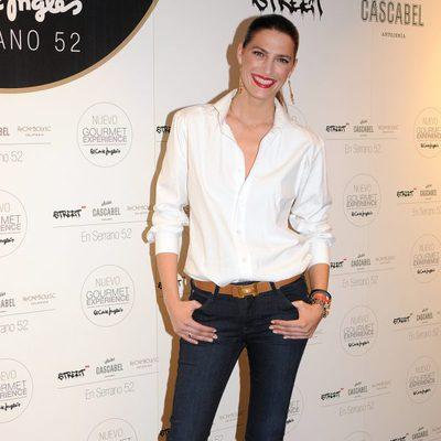 Laura Sánchez en la inauguración de un espacio gourmet