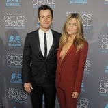 Justin Theroux y Jennifer Aniston en los Critics' Choice Awards 2015