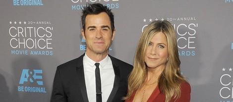 Justin Theroux y Jennifer Aniston en los Critics' Choice Awards 2015