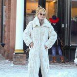 Melanie Griffith pasando la Navidad 2014 en Aspen