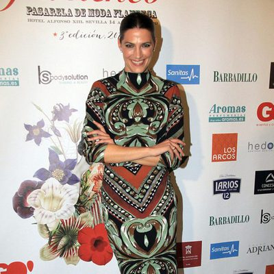 Laura Sánchez en su pasarela 'We love flamenco' 2015 en Sevilla