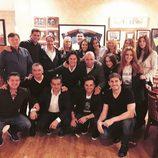 Sara Carbonero, Paula Echevarría, Iker Casillas, David Bustamante y Poty celebran con unos amigos una cena posnavideña
