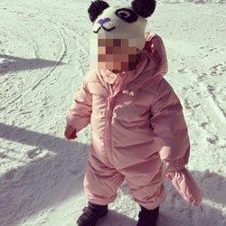 Carmen Gabriela Baldwin en la nieve