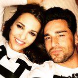 Paula Echevarría y David Bustamante disfrutan de una noche en pareja en casa