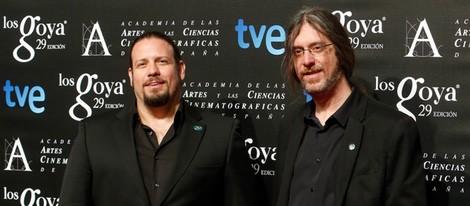 Esteban Roel y Juanfer Andrés en la fiesta de los nominados a los Goya 2015