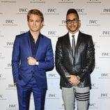 Lewis Hamilton y Nico Rosberg en el Salón de la Alta Relojería de Ginebra