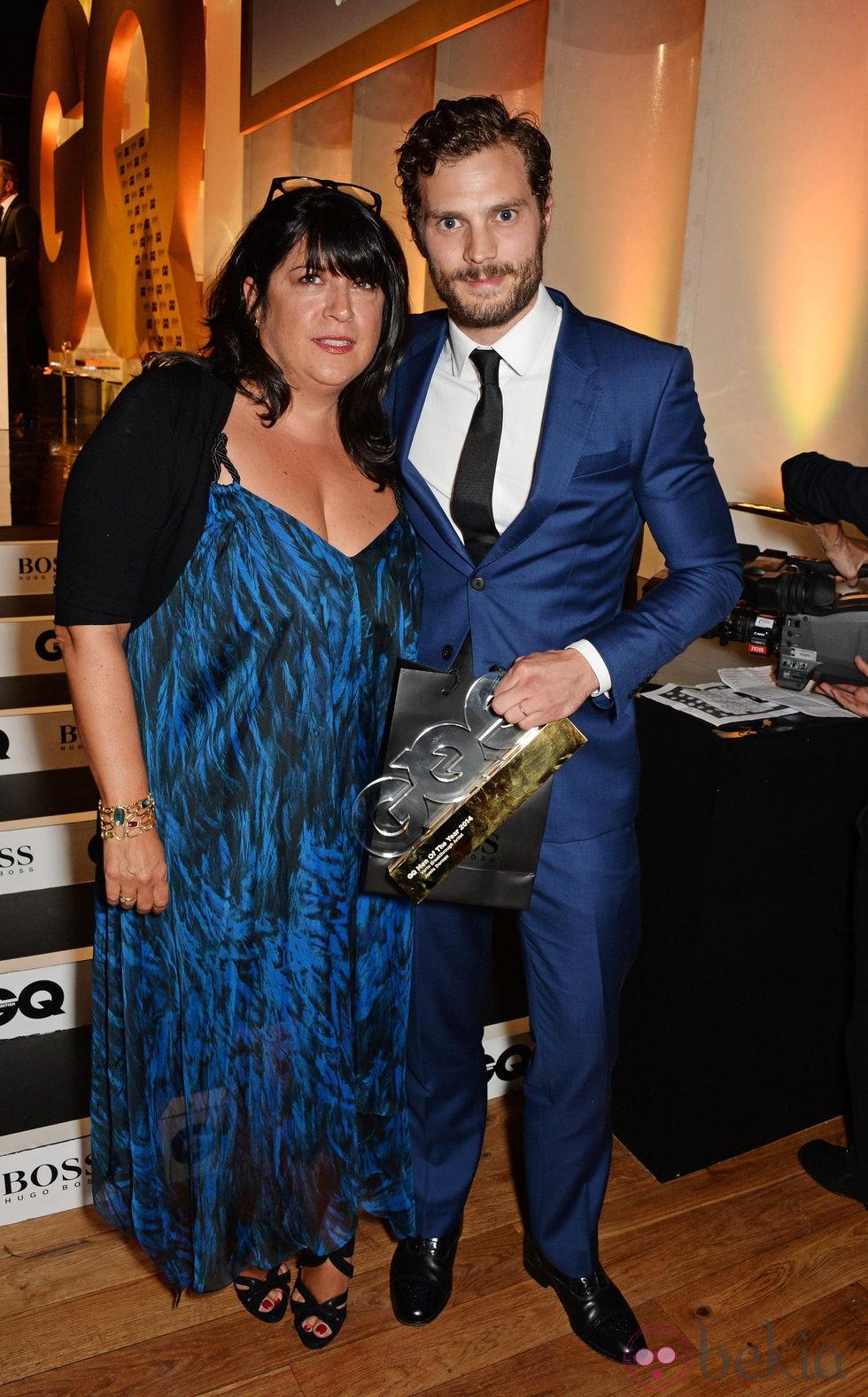 E.L. James y Jamie Dornan en los Premios GQ Hombres del Año 2014