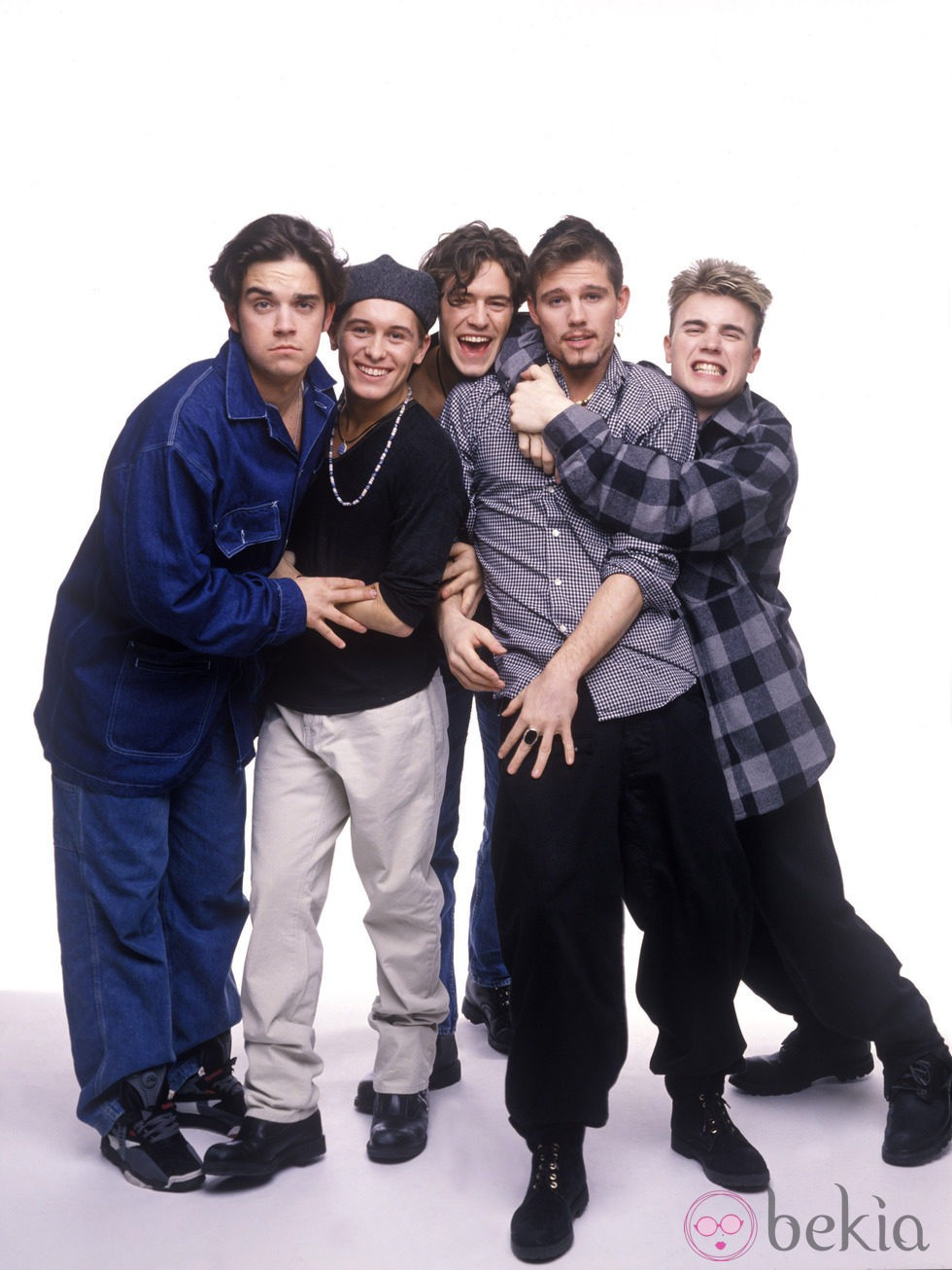 El grupo 'Take That' en una sesión de foto en marzo de 1993