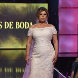 Terelu Campos desfilando vestida de novia en la Sálvame Fashion Week