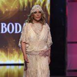 Lydia Lozano desfilando vestida de novia en la Sálvame Fashion Week