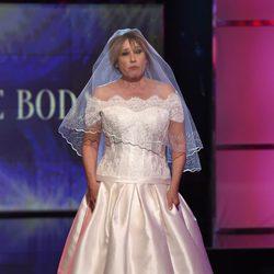 Mila Ximénez desfilando vestida de novia en la Sálvame Fashion Week