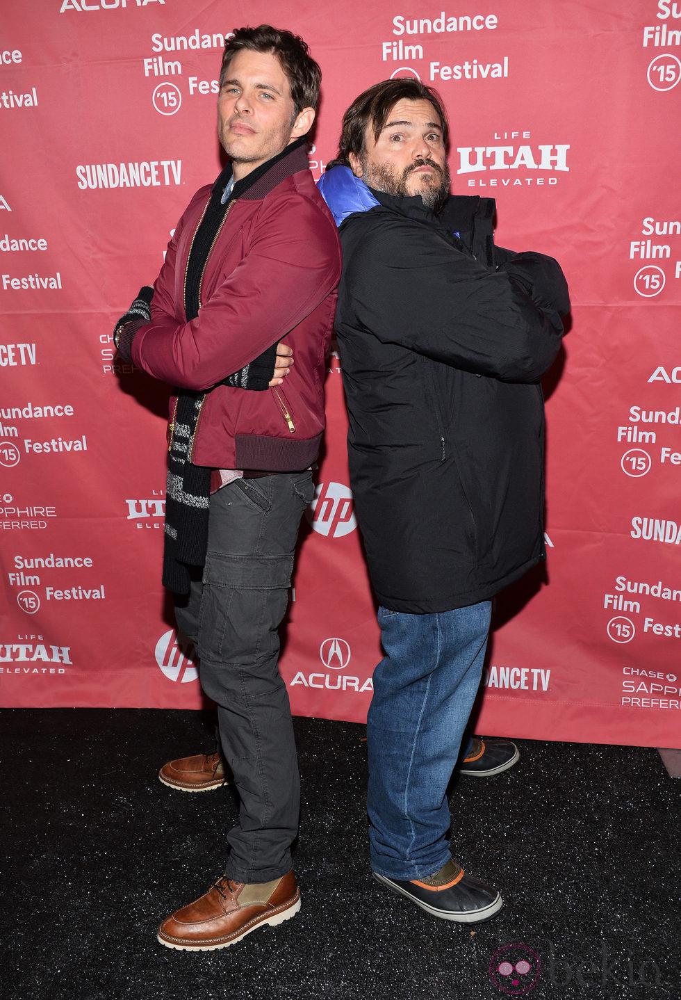 James Marsden y Jack Black en el Festival de Sundance 2015