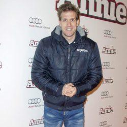 Óscar Martínez en la premiere de 'Annie' en Madrid