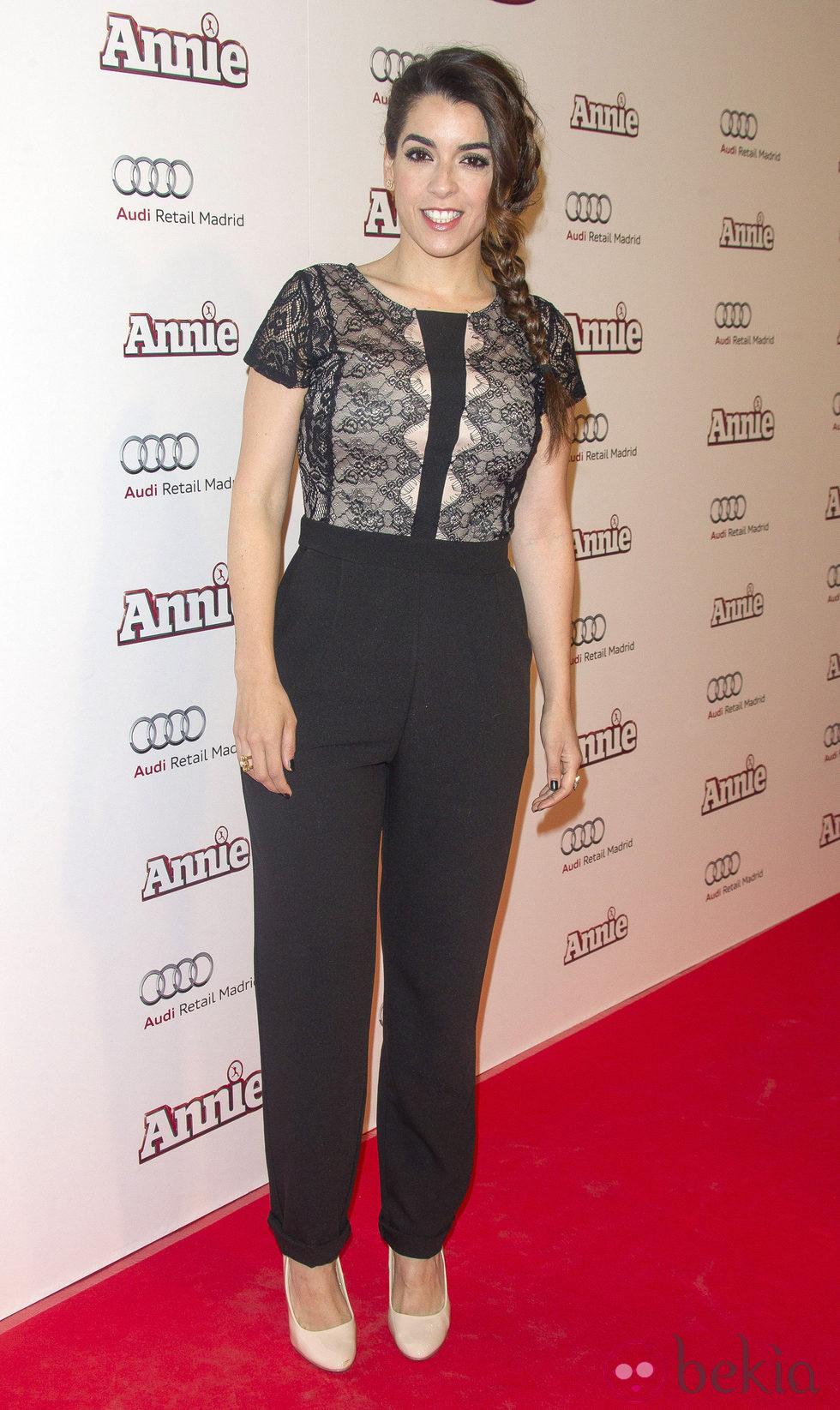 Ruth Lorenzo en la premiere de 'Annie' en Madrid
