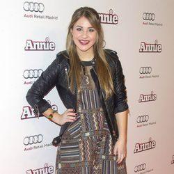 Lucía Gil en la premiere de 'Annie' en Madrid