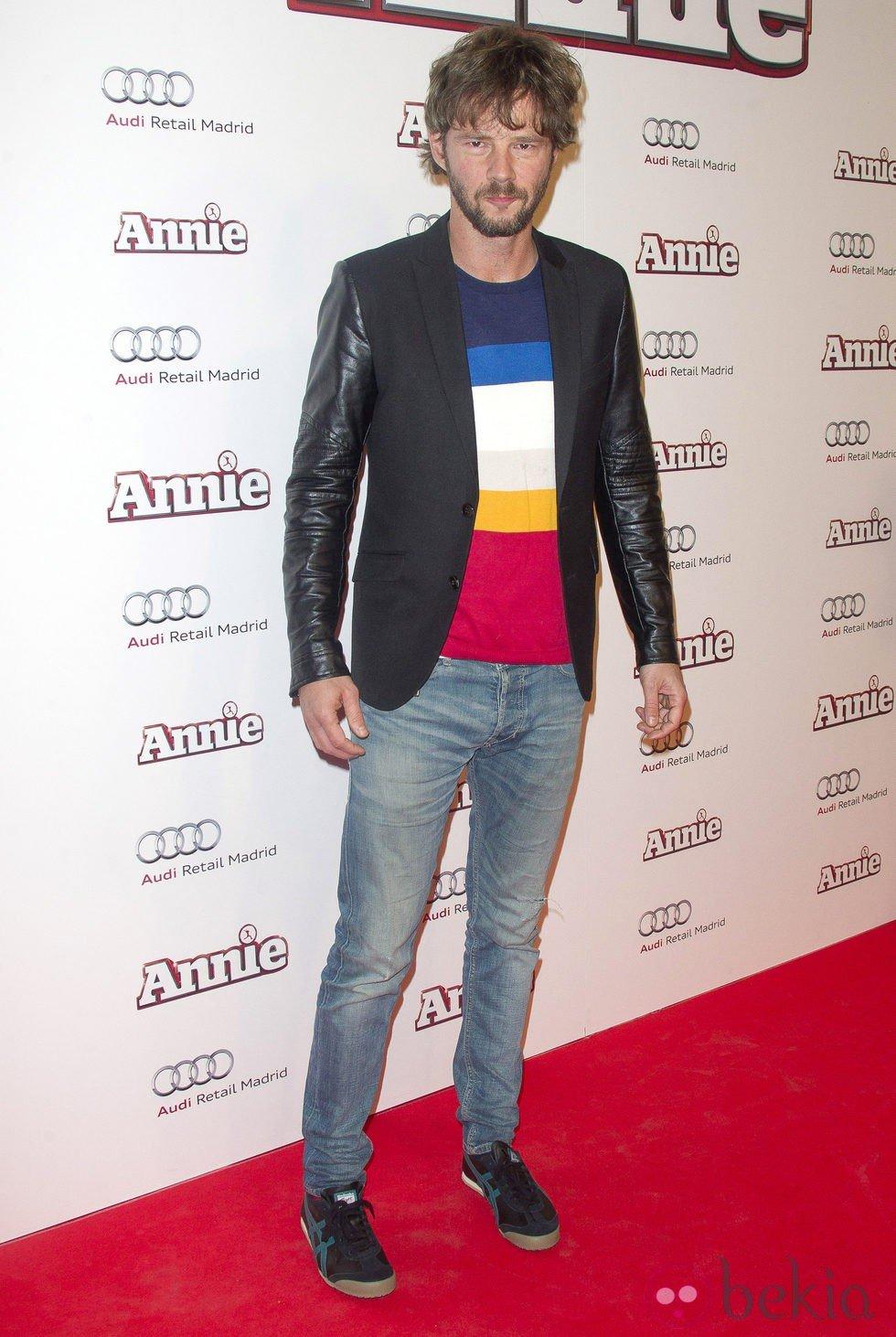 Eloy Azorín en la premiere de 'Annie' en Madrid