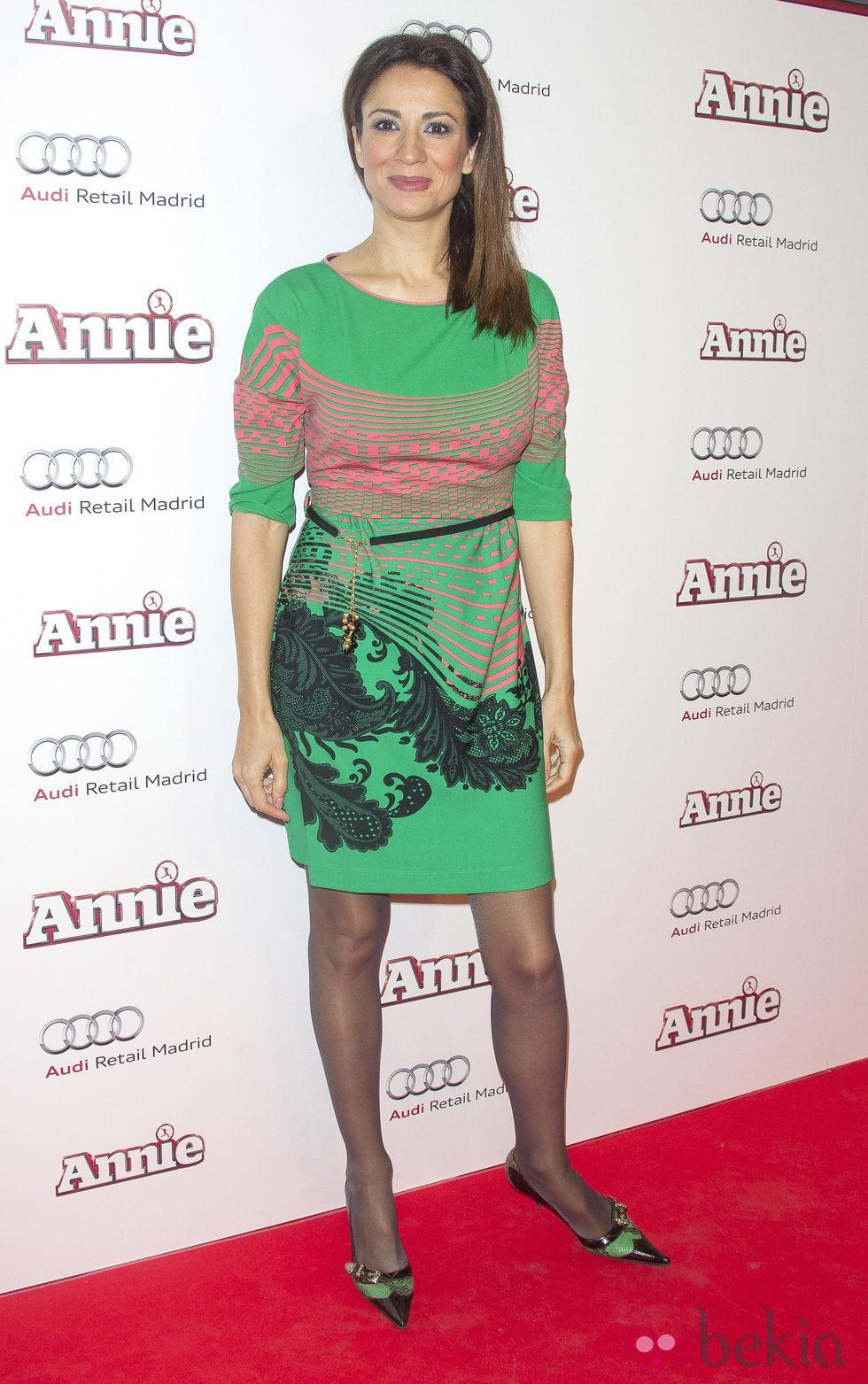Silvia Jato en la premiere de 'Annie' en Madrid
