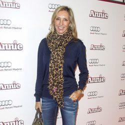 Marta Robles en la premiere de 'Annie' en Madrid