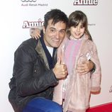 Luis Larrodera en la premiere de 'Annie' en Madrid