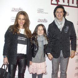 Javier Poty en la premiere de 'Annie' en Madrid