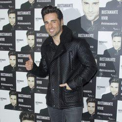 David Bustamante en el photocall de su concierto en Madrid