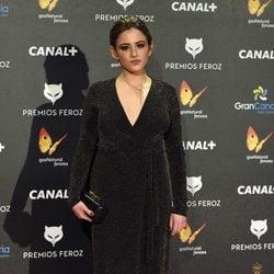 Marina Salas en la alfombra roja de los Premios Feroz 2015