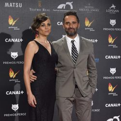 Leonor Watling y Jorge Drexler en la alfombra roja de los Premios Feroz 2015