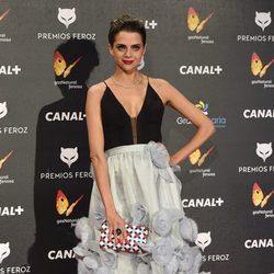 Macarena Gómez en la alfombra roja de los Premios Feroz 2015
