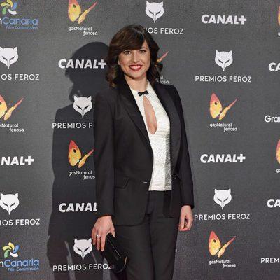 Marian Álvarez en la alfombra roja de los Premios Feroz 2015