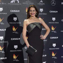 Cuca Escribano en la alfombra roja de los Premios Feroz 2015