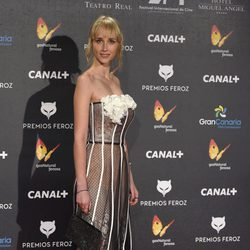 Ingrid García en la alfombra roja de los Premios Feroz 2015
